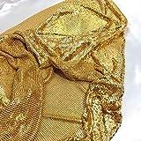 Creativesugar Bastelmaterial Metall Pailletten Mesh Stoff