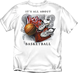 Coed Sportswear Basketball T-Shirt: It's All About Basketball, White