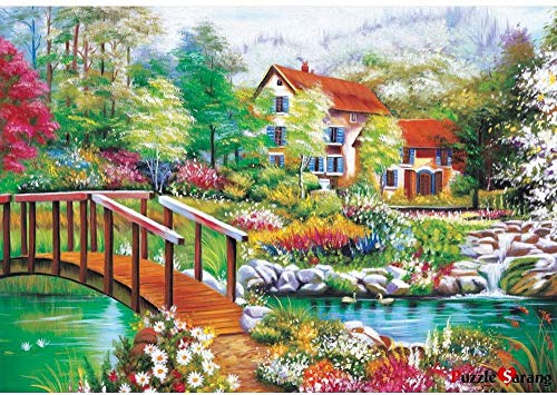 XiuTaiLtd A Lake Stained with Green 1000 Piece Jigsaw Puzzle, for Friends