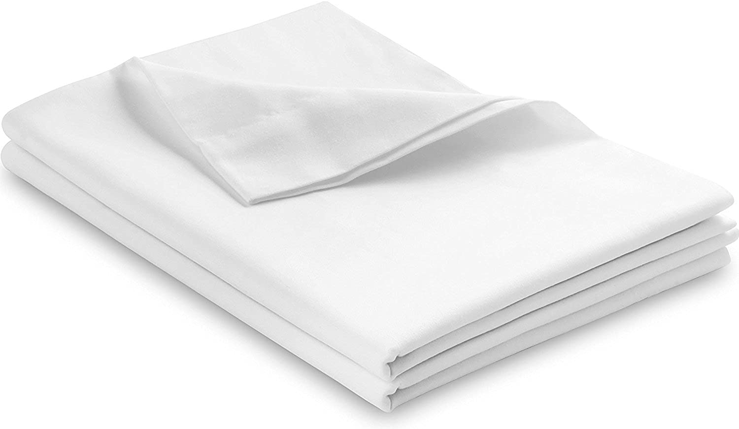L'Cozee 100% Egyptian Cotton, 340 Thread Count, Pillow Cases - Pillow Cover, Pillow Predector Set of 2, Standard - Queen Size - 20 x 28, White color