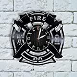 Olha Art Design Firefighter Christmas gifts for men Clock firefighter decorations fireman firefighter gifts for graduation fire fighter fire department dept
