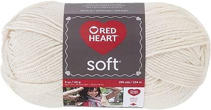 Red Heart Corazón Rojo Soft Yarn, Blanco Crudo, 1