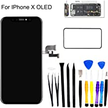 for iPhone X OLED [NOT LCD] Screen Replacement 5.8-inch 3D Touch Display digitizer kit with Service Tool, Advanced Screen Assembly Compatible Models A1865, A1901, A1902