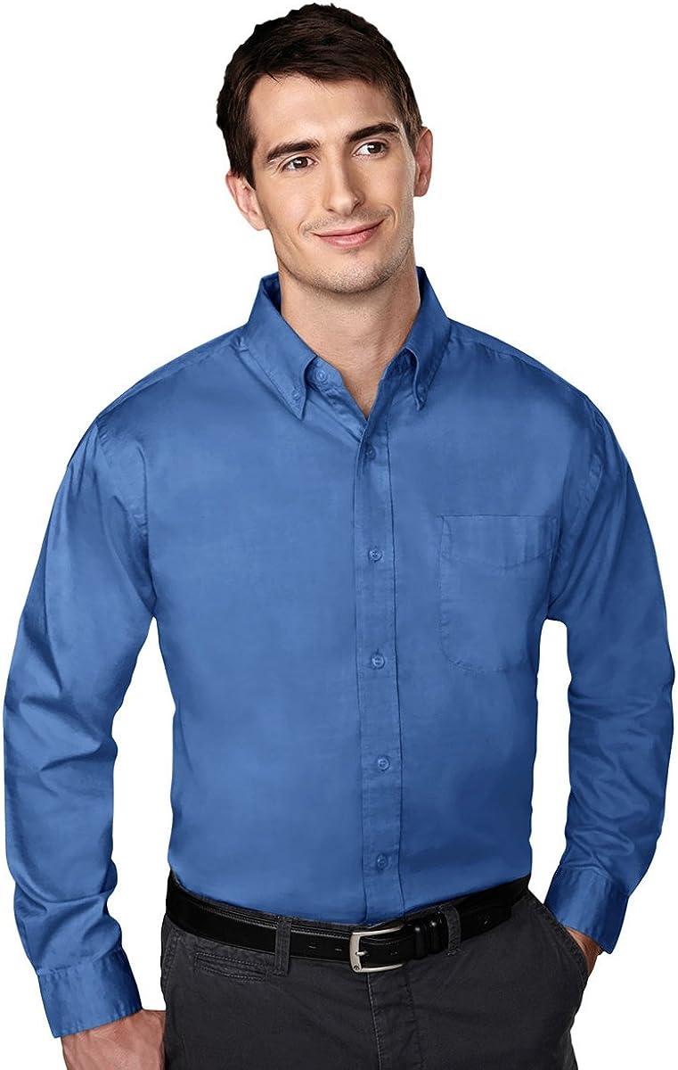 Tri-Mountain Chairman Pinpoint Oxford Shirt, 2XLT, French Blue