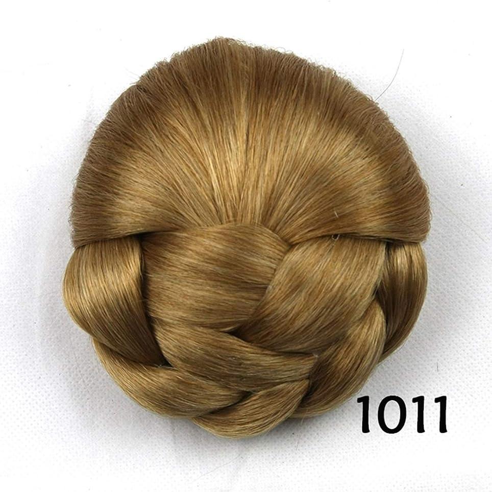 マカダム乙女注釈を付けるJIANFU レディースヘアブンフラワーヘッドピースドーナツポニーテール (Color : Color 1011)