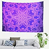 Bright purple mandela Popular Handicrafts New Launched Tapestry Wall Tapestry Wall Hanging Tapestries with Romantic Pictures Art Nature Home Decorations Dorm Decor for Living white 59*51