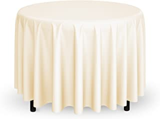 120 round tablecloth ivory