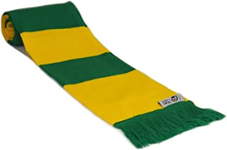 fan originals Retro Football Bar Scarf in Norwich City Colours Yellow Green