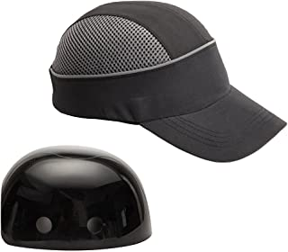 Safety Bump Cap with With Reflective Stripes, Lightweight and Breathable Hard Hat Head Protection Cap(Long,Black)