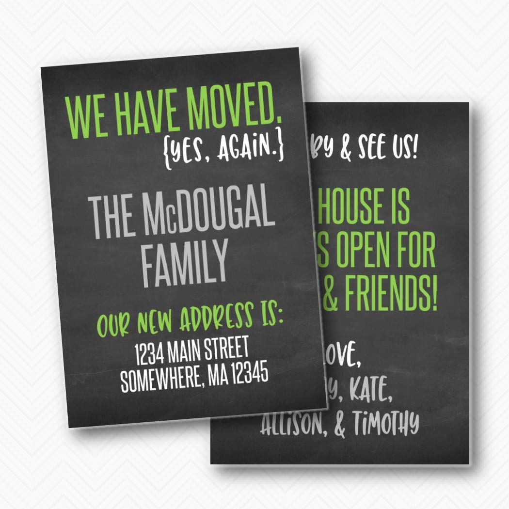 We have moved again OFFicial site Funny Moving Announcement Bargain A Printed