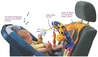 Taf Toys Toe Time Infant Car Seat Toy   Kick and Play Activity Center with Music, Lights, Mirror, and Jingling Toys  ...