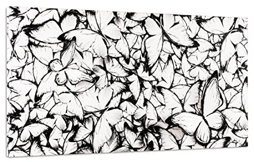 Pintdecor Farfalle Volo Quadro, hout, witte oogschaduw, 140 x 70 x 6 cm, Made in Italy