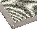 BODENMEISTER Sisal-Teppich modern hochwertige Bordüre Flachgewebe, verschiedene Farben und Größen, Variante: beige hell-grau, 80x150