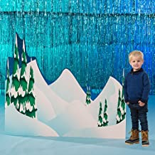 Arctic Winter Playground Snowy Hills Background Standup Photo Booth Prop Background Backdrop Party Decoration Decor Scene Setter Cardboard Cutout