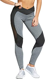 Dawwoti Active Pants for Women Slimming Yoga Tights Tummy Compression Running Pants
