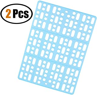ZOOPOLR 2 Pack Rabbit Mats for Cages, Cage Mat Rabbit Playpen Feet Mats,Small Animal Cage Hole Mat for Rabbit Guinea Pig Chinchilla Hamster Ferret with 4 Fixed Tabs