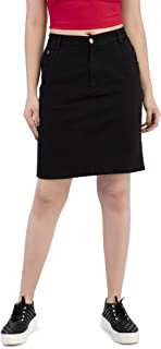 PepTrends Women's Black Denim Skirt(XS-XL Size)