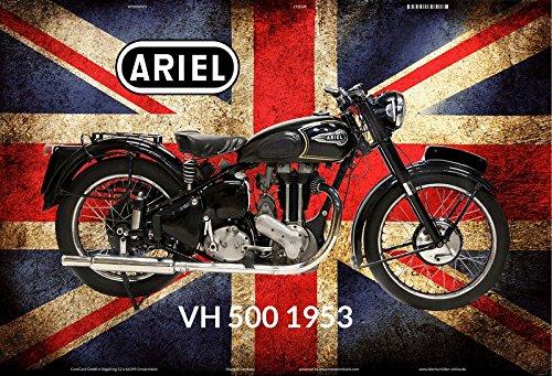Deko 7 Metalen bord 30 x 20 cm Motorfiets Ariel VH500 1953