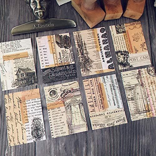 Junk Journal Vintage Retro achtergrond papieren stickers voor dagboek Bullet Journal Planer Scrapbook Scrapbooking 8 stuks