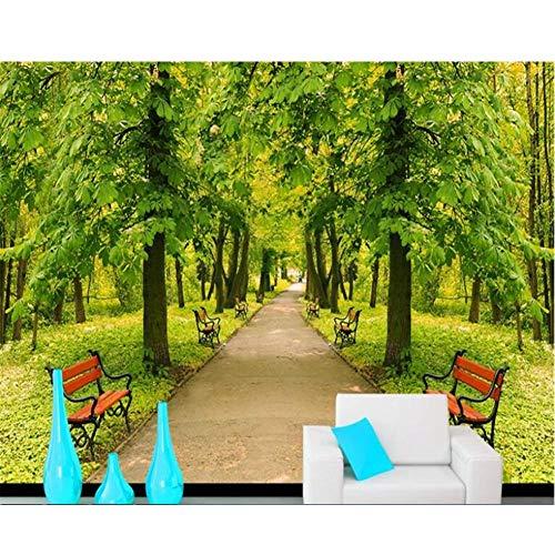 LTTGG Hochwertige modische ästhetische tapete baum boulevard park stuhl landschaft wandbild tapeten für wohnzimmer Tapety Leinwanddrucke