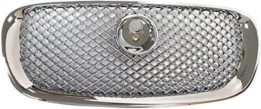 Perfit Liner New Front Chrome Grille Grill Replacement For Jaguar XFR XF Fits JA1200100 JC2Z3832
