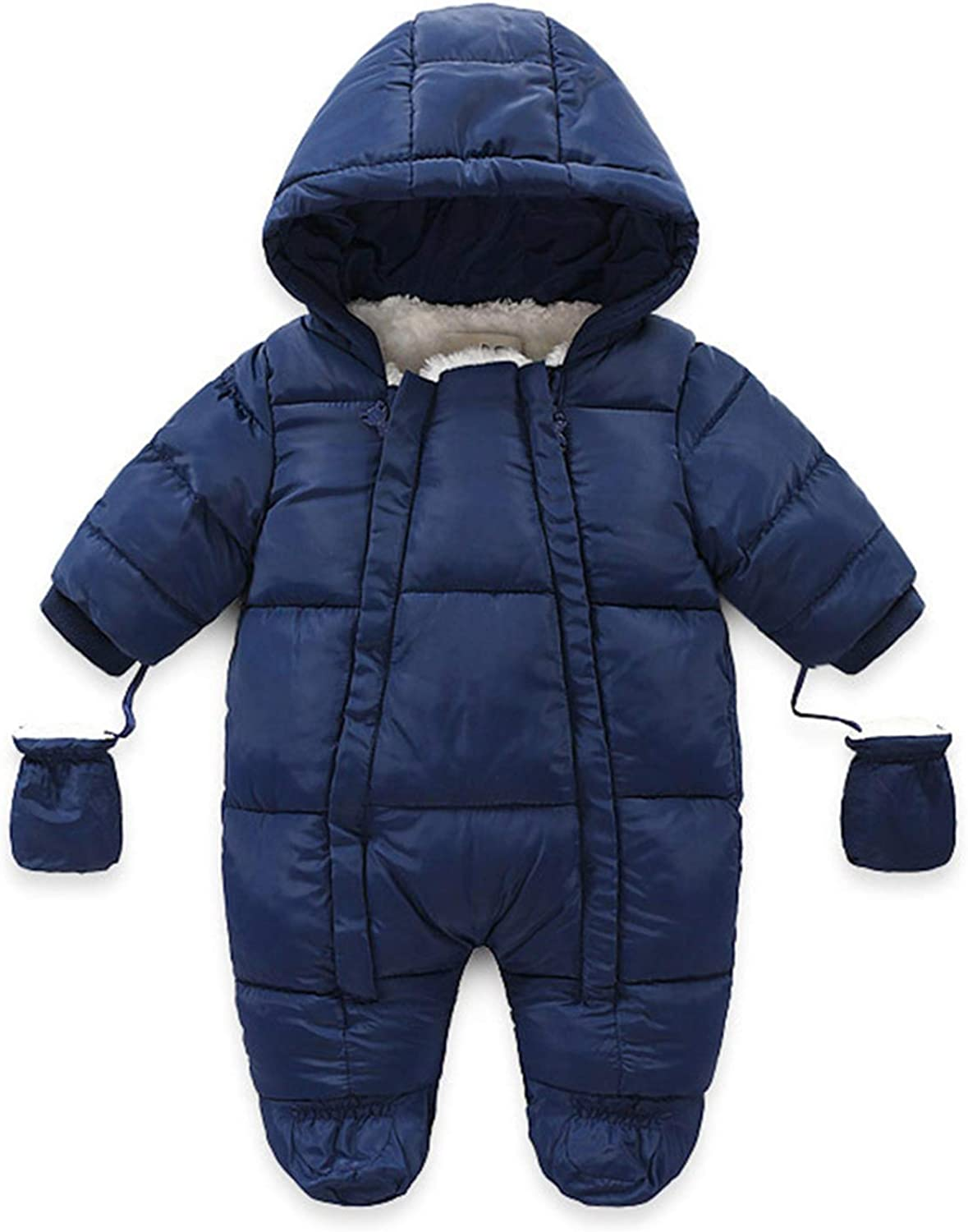 Winter Zipper Down Jumpsuits for Baby Girls Challenge the lowest price of Japan ☆ Boys with Gloves-Cas Choice