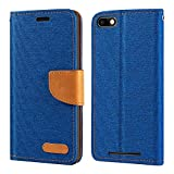 Wiko Lenny 3 Case, Oxford Leather Wallet Case with Soft TPU