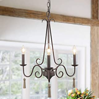 LOG BARN Farmhouse Chandelier Light Fixtures for Dining Rooms, Living Room, Kitchen Island, Foyer, Bedroom