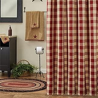 Wicklow Garnet Red Buffalo Check Shower Curtain