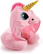 HUGMO Pink Unicorn Travel Pillow Hood