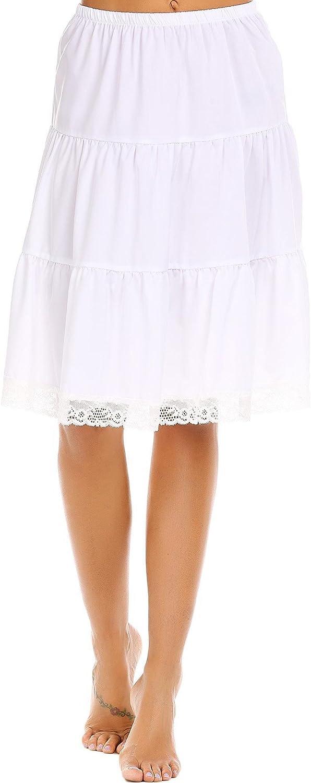 Aimado Skirts Women High Waist Knee Length Patchwork Casual Summer Skirt(S,XL)