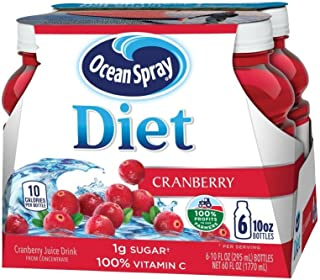 Ocean Spray Diet Juice Drink, Cranberry, 10 Ounce Bottle (Pack of 6)