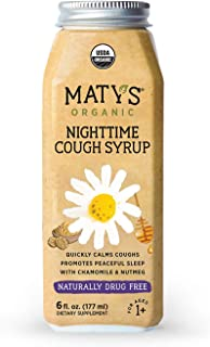 Matys Organic Nighttime Cough Syrup 6 fl oz Calms Cough & Promote Rest Naturally