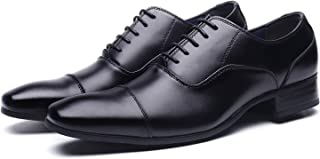 [ジョーマリノ] Jo Marino 日本製 本革 メンズ ビジネスシューズ 紳士靴 ストレートチップ ドレスシューズ 防滑 内羽根 6610