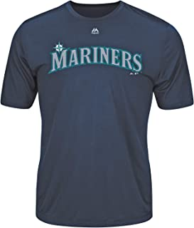 Seattle Mariners Wicking MLB Officially Licensed Youth & Adult Authentic Replica Crewneck T-Shirt