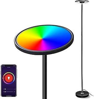 Smart Lampadaire LED, Bomcosy 25W RGBW Lampadaire sur Pied Salon Réglable, Lampe LED Pied Tactile/Vocale Compatible avec S...
