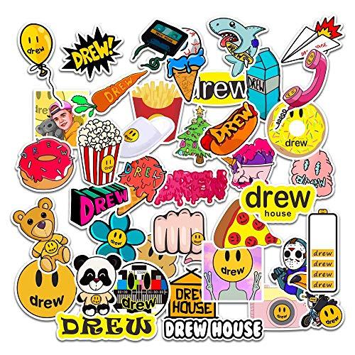 80pcs Singer Justin Bieber Drewhouse Sticker Pack Per pc Valigia Laptop Moto Styling Cool Cartoon Adesivi