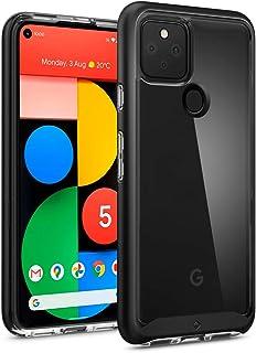 Caseology Google Pixel 5 ケース TPU PC ハイブリッド 背面 透明 ハード バンパー カバー 耐久性 スカイフォール (ブラック)