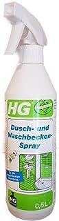 HG Douche- en wastafelspray, 500 ml, douchereiniger, voor het snel verwijderen van lichte kalksteen, huidvetten en zeepresten