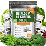 Heirloom Non-GMO Lettuce and Greens Seeds...