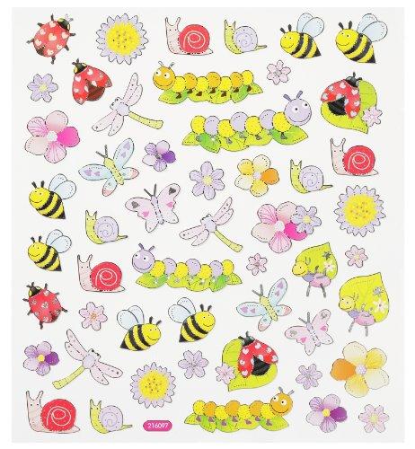 Hobby 3452342 Stickers pour enfants Motifs insectes/fleurs