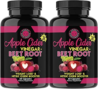 Sponsored Ad - Angry Supplements Apple Cider Vinegar + Beet Root Capsules, Detox Pills, Nitric Oxide + Energy Booster (2-B...