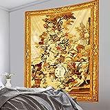 PPOU Tarot Card Tapiz Misterio Mandala brujería Tapiz Bohemio Hippie decoración del hogar Colgante de Pared Tela de Fondo A2 100x150cm