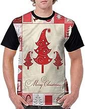 BlountDecor Round Neck T-Shirt,Trees Candy Stars Fashion Personality Customization