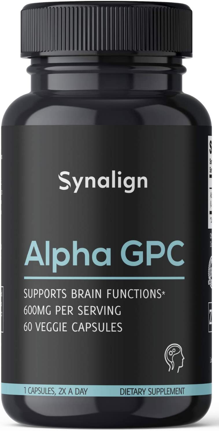 Alpha GPC Choline 600mg Per Serving Capsules Dealing full price reduction Noo Beginner - 60 Gifts