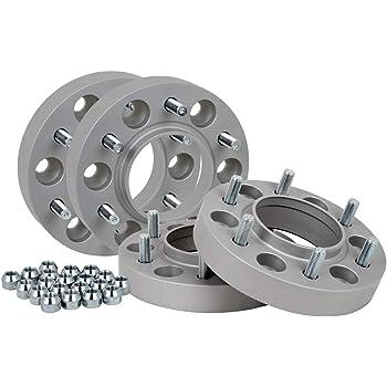 Distanziali in alluminio 4 pezzi 25 mm per disco//50 mm per asse Certificazione T/ÜV incl