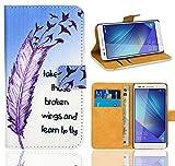 Huawei Honor 7 Handy Tasche, FoneExpert® Wallet Hülle Flip Cover Hüllen Etui Ledertasche Lederhülle Premium Schutzhülle für Huawei Honor 7 (Pattern 7)