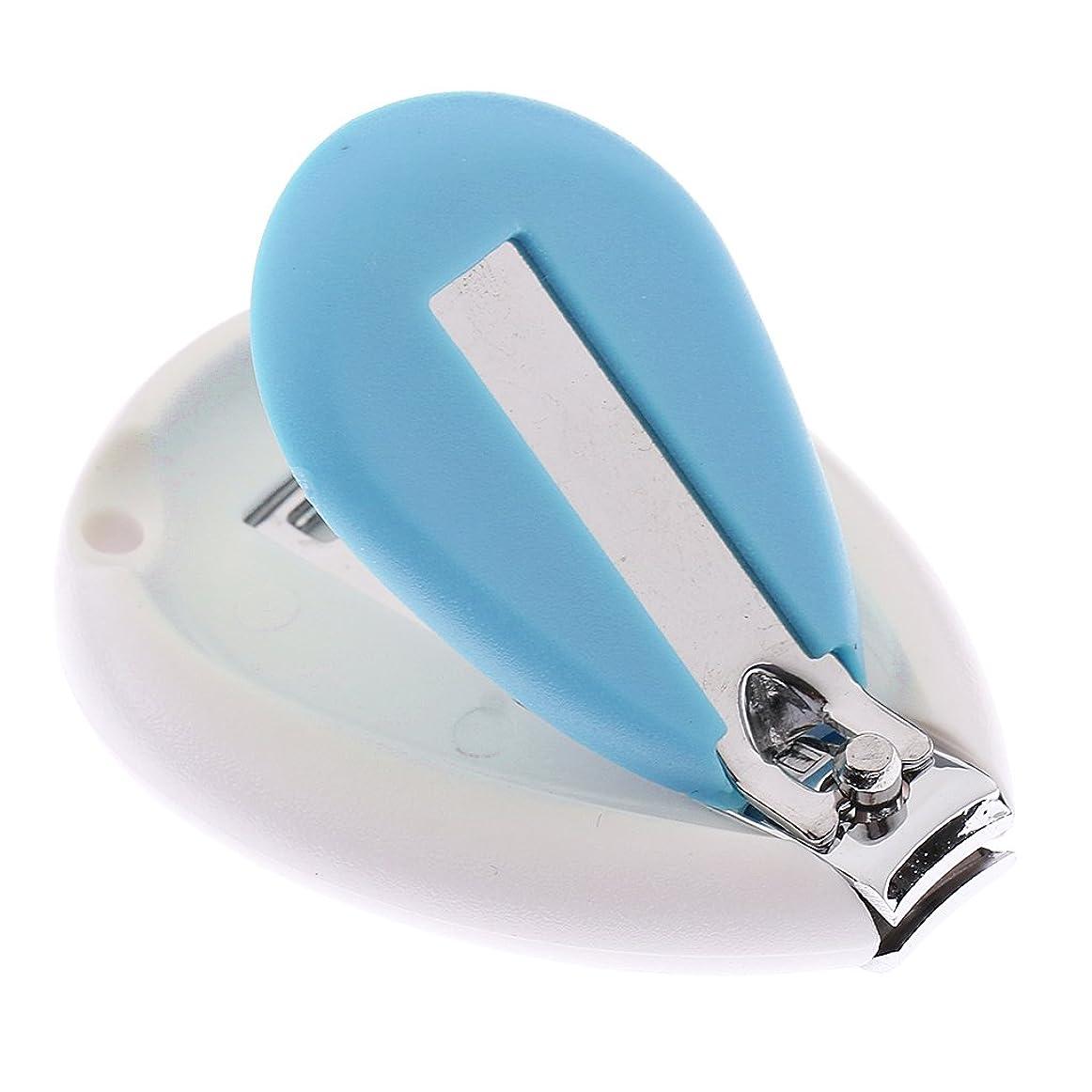 戦略大胆ショートカットGRALARA キッズ 赤ちゃん ネイル クリッパー はさみ トリマー カッター 安全 人間工学 全3色 - 青