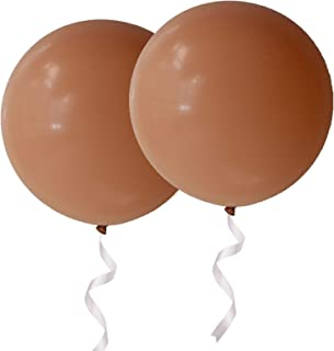 OUPKING Giant Thick Balloons 36 inch Blush Pink Big Round Latex Balloons 6 Packs