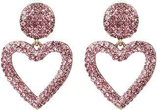 Creative simple love earrings,Drop Dangle Earrings for Women Jewelry,Color stud earrings,Pink
